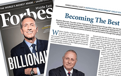 "Interview with IDG chairman Stephen Bennett in Forbes Middle East magazine – ""Becoming The Best"""