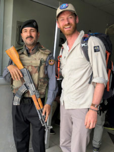 Jake with one of Skardu's police men