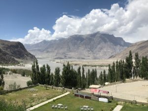View from the terrace of Jake's Hotel overlooking the Indus River