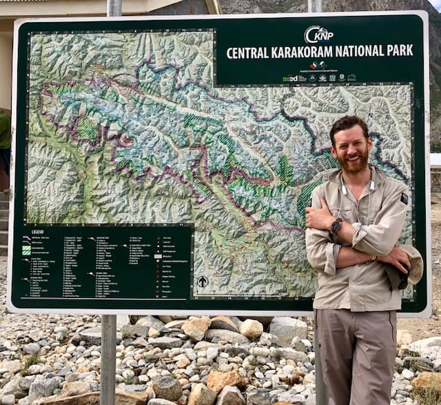 Jake entering the Central Karakoram National Park