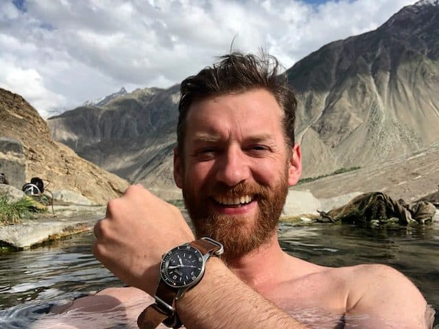 Jake testing his new Bremont diving watch at 3000m above sea level!
