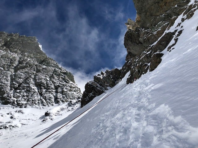 Just below the Broad Peak Col