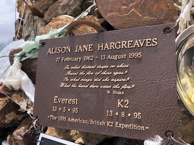 Probably the most famous Brit to have died in K2, Alison Hargreaves in 1995, exactly 3months after she became the first British female to climb Everest without Oxygen - a truly inspirational woman.